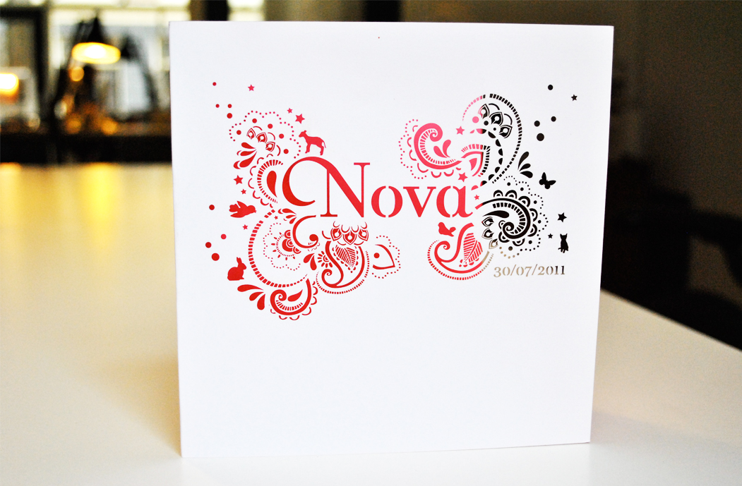 Geboortekaartje Nova Mae